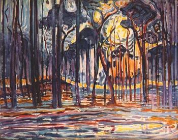 Woods Near Oele 1908