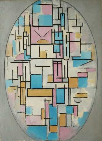 Composition in Oval 1914