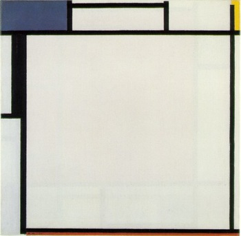 Composition with Blue, Yellow, Black, and Red 1922